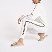 River Island White Side Panel Jogger