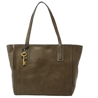 Fossil Emma Leather Tote Bag Canteen