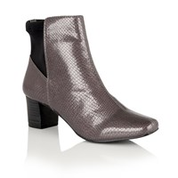 Lotus Swallow Animal Print Ankle Boots Graphite