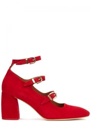 Miista Mary Red Suede Pumps