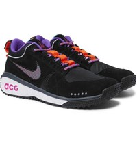 Nike Acg Dog Mountain Suede And Mesh Sneakers Black