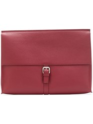 Orciani Wide Flap Clutch Pink And Purple