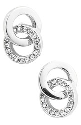 Women's Kate Spade New York 'Infinity And Beyond' Stud Earrings Silver