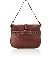 Campomaggi Women's Flap Front Shoulder Bag Dark Brown
