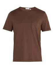 Thorsun Crew Neck Cotton Jersey T Shirt Brown