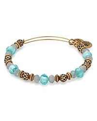 Alex And Ani Moon Tide Expandable Wire Bangle Green Gold