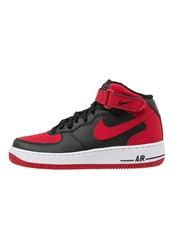 Nike Sportswear Air Force 1 Mid '07 Hightop Trainers Black Gym Red White