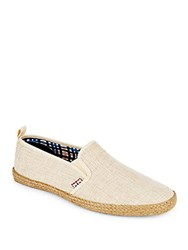Ben Sherman Woven Textured Slip On Shoes Sand