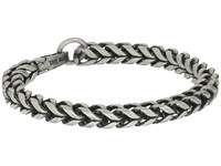 Steve Madden Stainless Steel 9 Twisted Curb Chain Bracelet Silver Bracelet