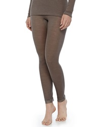 Hanro Lace Trimmed Wool Silk Leggings Dusty Olive