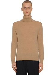 Jil Sander Regular Wool Knit Turtleneck Light Beige