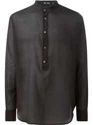 Blk Dnm Mandarin Collar Shirt Black