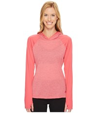 The North Face Reactor Hoodie Honeysuckle Pink Heather Honeysuckle Pink Women's Sweatshirt