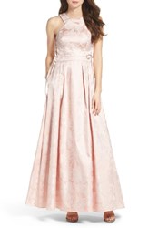 Xscape Evenings Women's Lace Up Side Brocade Ballgown