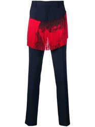 Calvin Klein 205W39nyc Fringed Trousers Blue