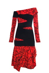 Proenza Schouler Cut Away Dress Red