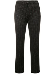 Cambio Polka Dot Cropped Trousers Black