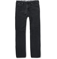Nonnative Dweller Slim Fit Faded Cotton Jeans Black