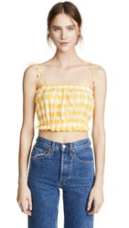 Mds Stripes Cropped Cami Yellow Check