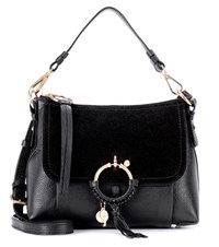 See By Chloe Joan Small Leather And Suede Crossbody Bag Black