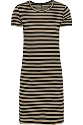 Enza Costa Striped Pima Cotton Jersey Mini Dress