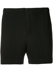Homme Plisse Issey Miyake Fitted Shorts Unisex Polyester M Black