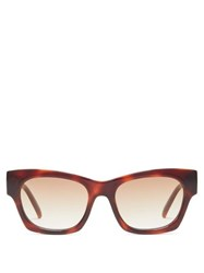 Le Specs Rocky Square Acetate Sunglasses Brown
