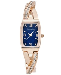 Charter Club Women's Crystal Rose Gold Tone Bangle Bracelet Watch 20X28mm Only At Macy's