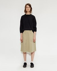 Mhl By Margaret Howell Gym Skirt Pale Khaki