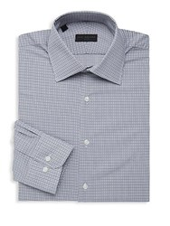 Ike By Ike Behar Micro Check Long Sleeve Dress Shirt Grey
