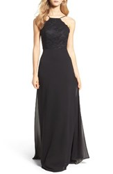 Hayley Paige Occasions Women's Lace Halter Gown