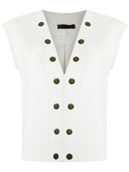Talie Nk Studded Top White