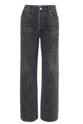 Citizens Of Humanity Annina High Rise Wide Leg Jeans Black