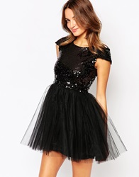 Little Black Dress Carrie Dress With Sequin Top And Tulle Skirt
