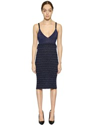 Kenzo Metallic Viscose Blend Knit Dress