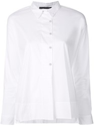 Transit Off Centre Fastening Shirt White