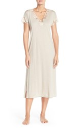 Women's Natori 'Zen' Short Sleeve Nightgown Cashmere