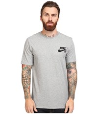 Nike Sb Ripped Tee Dark Grey Heather Dark Grey Heather Black Men's T Shirt Gray
