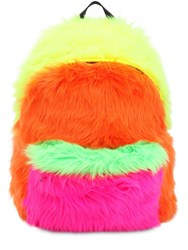 Jeremy Scott Faux Fur Backpack Multicolor