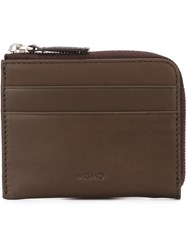 Mismo 'Card' Zip Up Wallet Brown