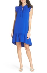 Charles Henry Ruffle Shift Dress Royal