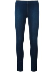 Love Moschino Cropped Super Skinny Jeans Blue