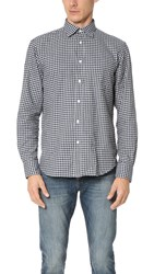 Hartford Paul Flannel Check Shirt Navy Grey
