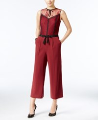 Guess Rudy Cropped Wide Leg Jumpsuit Zinfandel