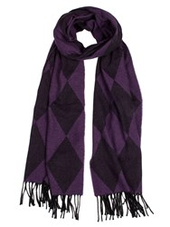 Dents Women S Woven Harlequin Scarf Purple