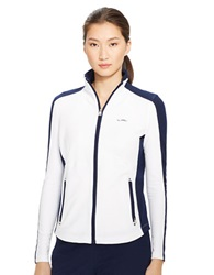 Lauren Ralph Lauren Color Blocked Full Zip Jacket White Navy