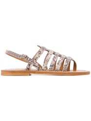 K. Jacques Homere Sandals Neutrals