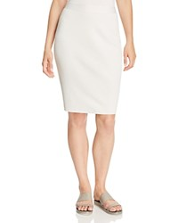 Eileen Fisher Ribbed Knit Pencil Skirt Bone
