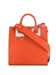 Sophie Hulme Albion Tote Bag Orange