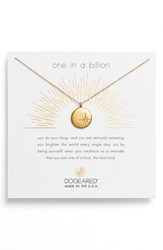 Dogeared Women's One In A Billion Pendant Necklace Gold